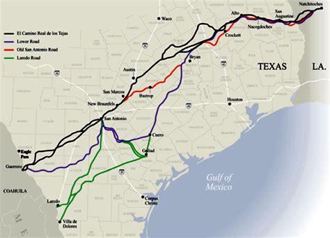 camino trail map el camino real de los tejas national historic trail the