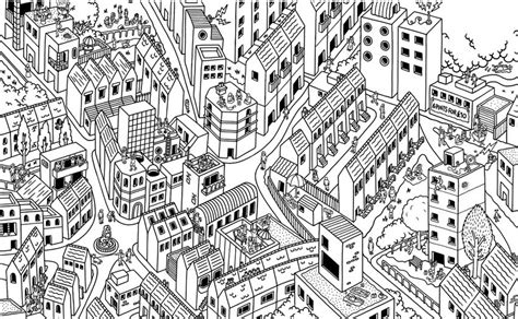 Coloring Page Buildings 10