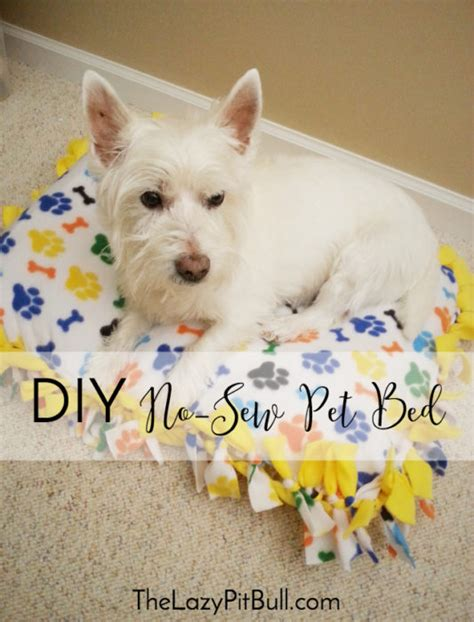 diy dog bed no sew 15 no sew diy pet beds for your best friend