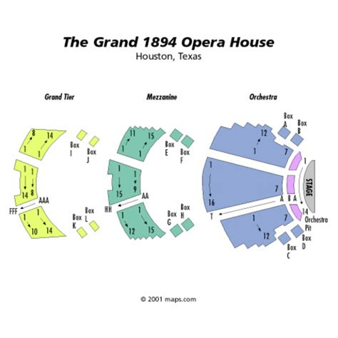 Grand Opera House Seating Plan The Grand 1894 Opera House Seating Chart The Grand 1894 Opera House Tickets The Grand 1894