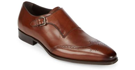 Avery Sling Brown Phillipe Jourdan mezlan avery monk leather oxfords in brown for lyst