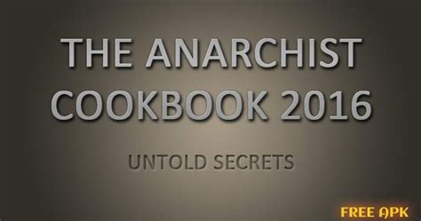 the anarchist cookbook books hacking cracking cookbook 2016 free