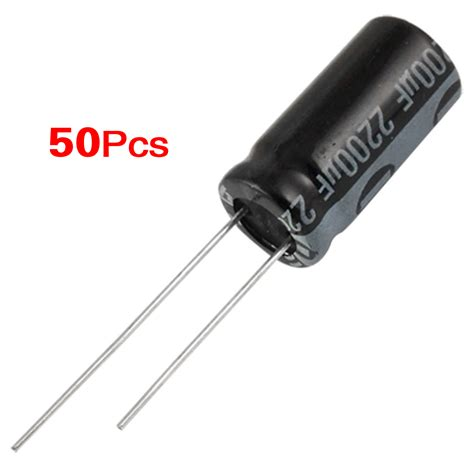 electrolytic capacitor negative lead 50 pcs 10x20mm 2200uf 16v radial lead electrolytic capacitor cp ebay