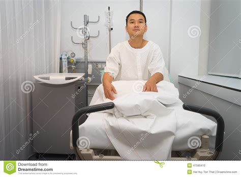 the bed guy man in hospital bed stock photo image 47590410