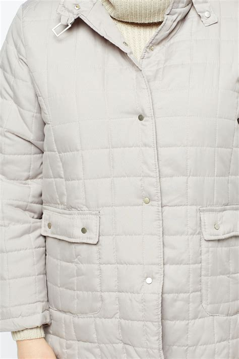 grey quilted jacket just 163 5