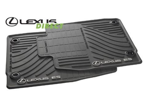 oem lexus es350 all weather rubber floor mat set 4