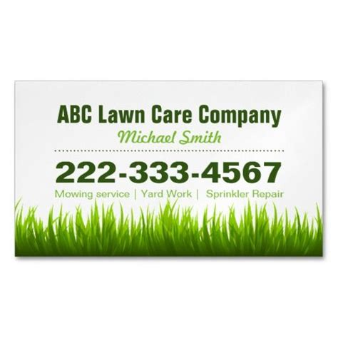 gardening services business cards templates best 138 landscaping business cards images on