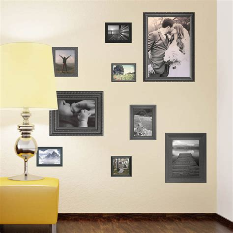 black photo frames wall stickers by the binary box notonthehighstreet