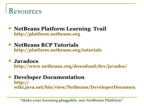 netbeans rcp tutorial netbeans plugin development workshop