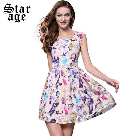 Sale Dress Sifon aliexpress buy s xl brand summer bottle printed organza dress pink o