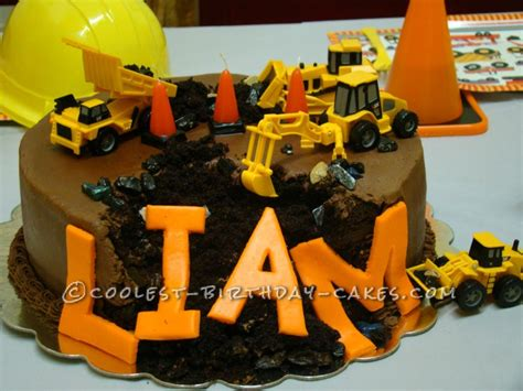 themes black diggers southern blue celebrations construction cake ideas
