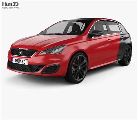 peugeot 2015 models peugeot 308 gti 2015 3d model hum3d