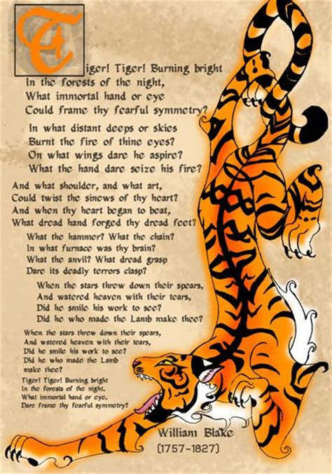 tyger tiger by william blake poetry amp parables