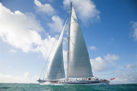 exclusive pictures ron holland  airplane   largest  sloop superyacht world