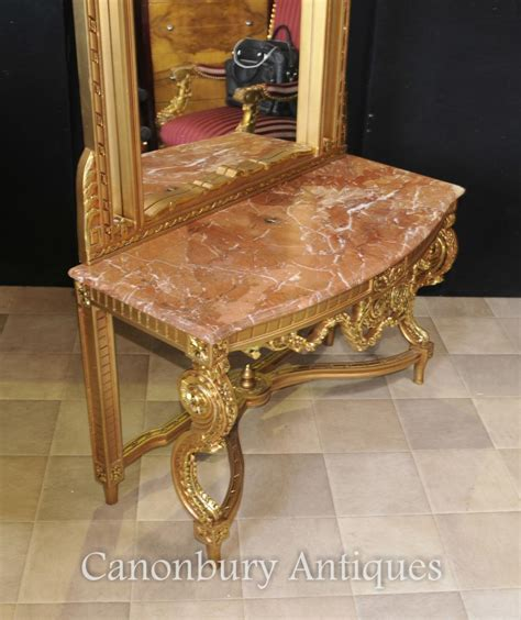 Hallway Table And Mirror Empire Gilt Console Table And Mirror Set Tables Ebay