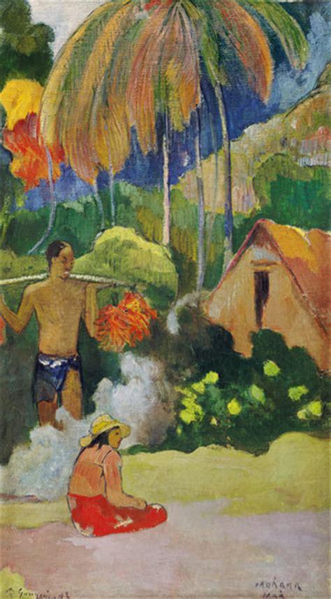 Holzschubladen Auf Maß by Landscape In Tahiti Mahana Maa Paul Gauguin Als