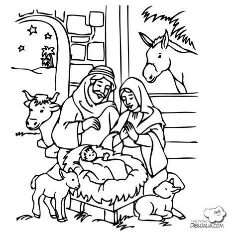 imagenes de el nacimiento de jesus para imprimir portal de bel 233 n dibujalia dibujos para colorear