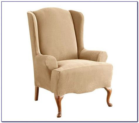 armchair and ottoman slipcovers slipcovers for wingback chairs uk chairs home design