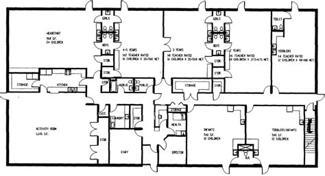 Floor Plan Of Kids World Day Care In Sac City Ia Preschool Building Plans And Designs