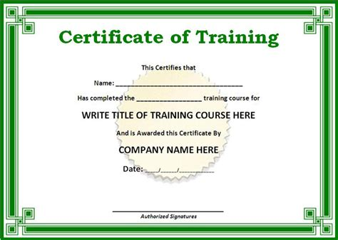 doc 861643 doc580456 certificate of training template 6