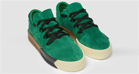 adidas alexander wang alexander wang x adidas aw skate quot green quot lands this