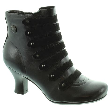 hush puppies tiffin verona heeled ankle boots in black in