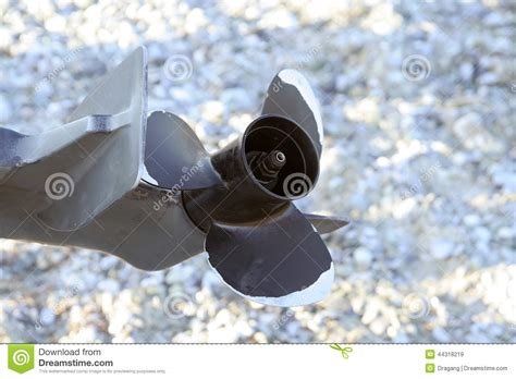 fishing boat engine propeller propeller stock photo image 44318219