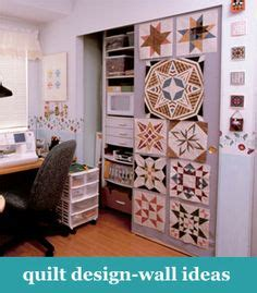 quilt design wall on quilting room