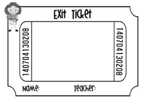 printable exit tickets exit ticket template fun classroom ideas pinterest
