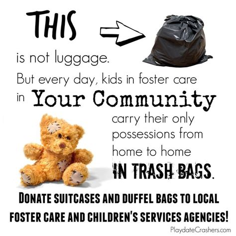Fostering Your Child To Be A Great Leader In Crisis no more trash bags in foster care foster adopt foster care and trash bag