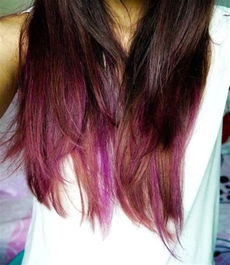 brunette hairstyles with purple highlights pink brown hair with purple highlights mishpochas