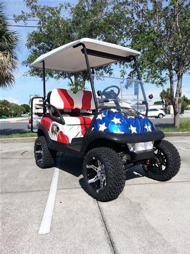club precedent electric custom american eagle golf cart