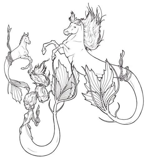 hippocampus mermaid  requay  deviantart fantasy myth