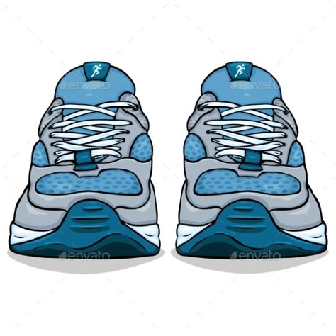 animated running shoes single blue running shoes by nikiteev graphicriver