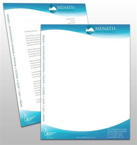 Business Letterhead Purpose 93 Best Letter Designs Images On