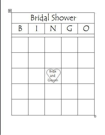 free printable bridal bingo template bridal shower bingo