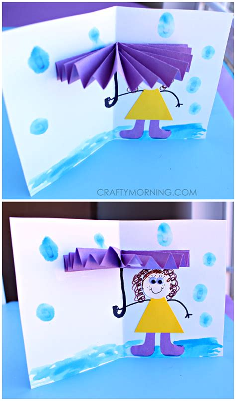 crafty card 3d umbrella rainy day card for to make crafty morning