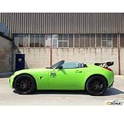 Lime Green Pontiac Solstice Wrap  Cars Pinterest