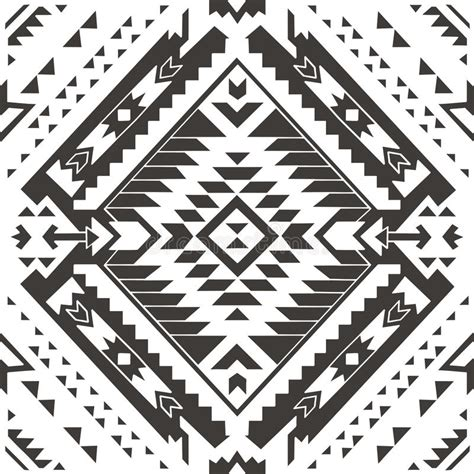 aztec pattern drawings color seamless colorful aztec pattern pencil drawing stock