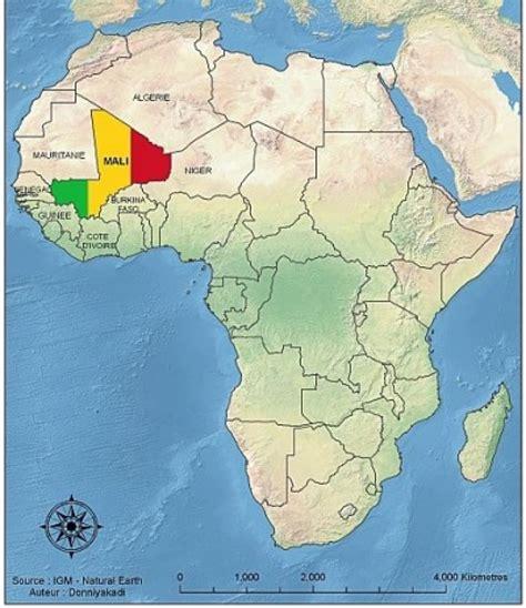 africa map mali mali map africa