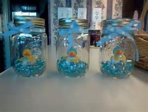 Rubber duck mason jar decor click pic for 30 diy baby shower ideas