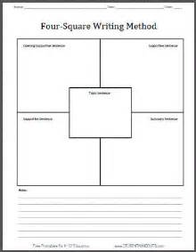 4 Square Writing Template four square writing method free printable template worksheet