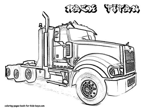 trucks coloring pages ford semi truck coloring pages