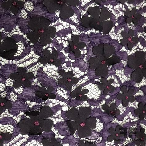 3d floral lace purple