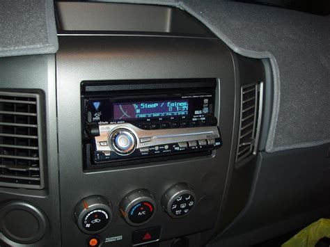 aftermarket stereo  system installed nissan titan forum