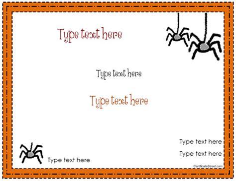 blank certificates halloween certificate template