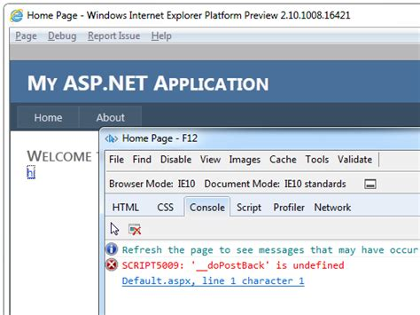 javascript date format undefined bug and fix asp net fails to detect ie10 causing
