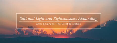 Salt And Light Ministries by Salt And Light And Righteousness Abounding Additional