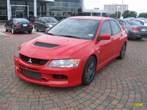 mitsubishi evo red and black 2006 rally red mitsubishi lancer evolution ix mr 24589139