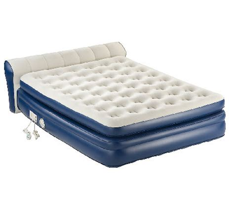 aero bed aerobed queen size elevated headboard bed w built in pump page 1 qvc com